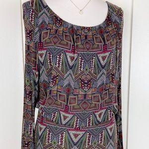 Velvet by Graham & Spencer Brown Knit Dress size L